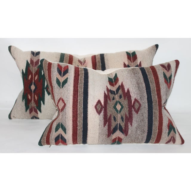 Native American Style Serape Pillows - A Pair For Sale - Image 10 of 10