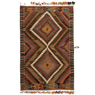 "Rug & Relic Vintage ""Eye Dazzler"" Cal Kilim For Sale"
