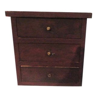 Fantastic 19thc Original Red Mini Apothecary Cabinet For Sale