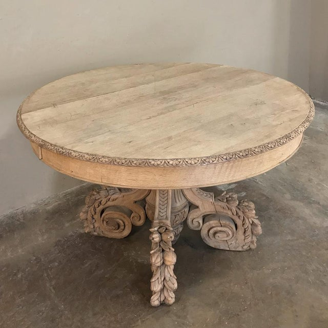 Louis XIV 19th Century French Renaissance Stripped Center Table For Sale - Image 3 of 13