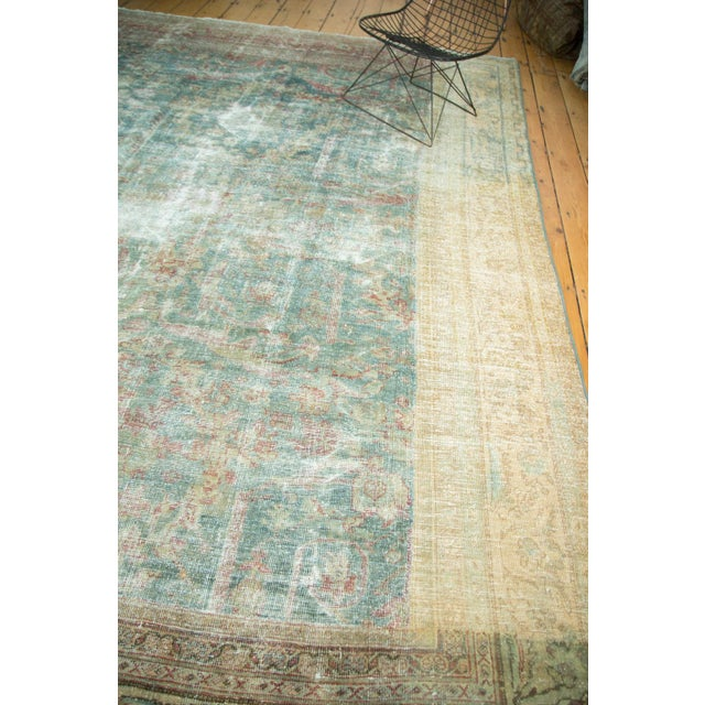 "Antique Mahal Square Carpet - 9'10"" x 10'9"" For Sale - Image 10 of 10"