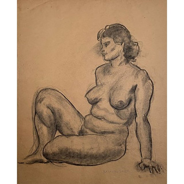 Raphael Soyer (1899 - 1987) was an American artist. This drawing is from the artist's sketchbook c.1935. Exhibited 2008...