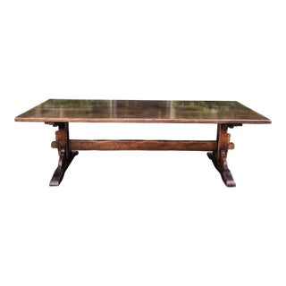Antique Spanish Colonial Trestle Table For Sale