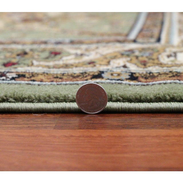 Persian Traditional Green Rug - 8′ × 11′ - Image 6 of 6