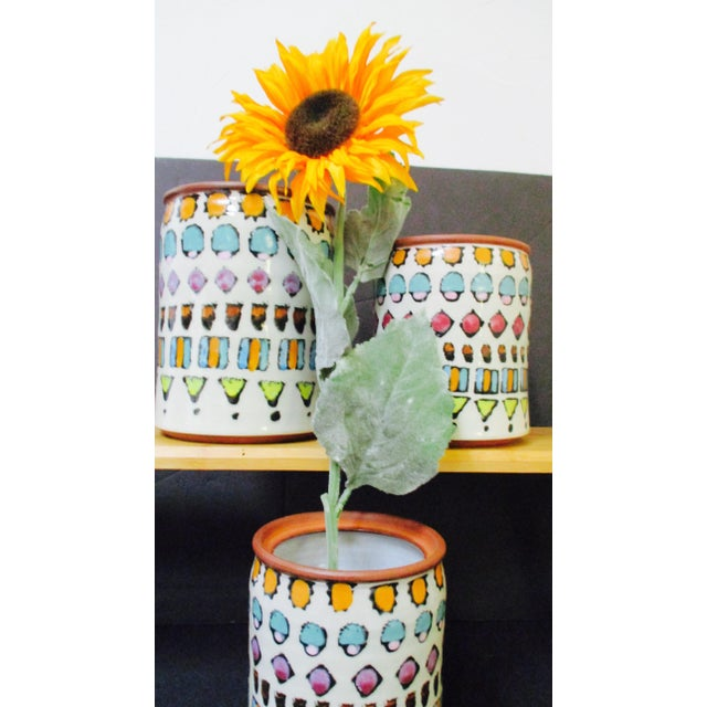 Hand Painted Italian Ceramic Canister Set Florentine Kitchen - 8 pieces from Zona New York This is an amazing set of...