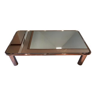 Contemporary Mario Bellini Mirrored Chrome Table For Sale