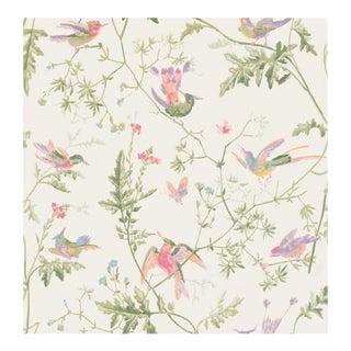 Cole & Son Hummingbirds Wallpaper Roll - Soft Multi-Colour For Sale