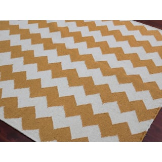 Zara Chevron Orange Flat-Weave Rug 5'x8' Preview