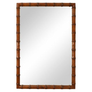 1970s Vintage Bamboo Mirror For Sale