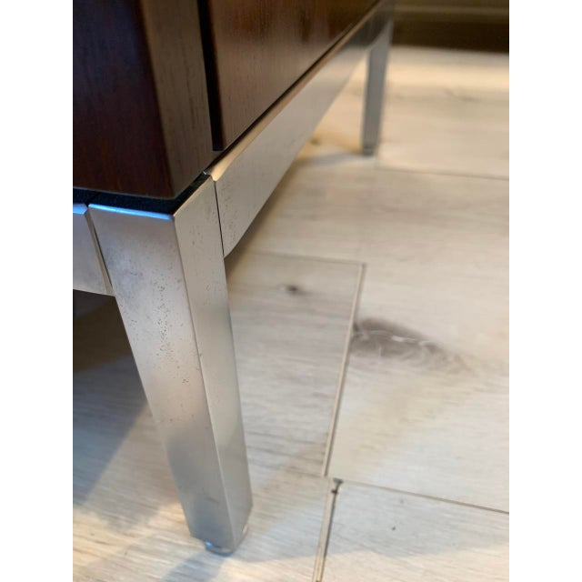 """Metal Knoll """"Florence"""" Office Credenza With Calacatta Borghini Marble Top For Sale - Image 7 of 13"""