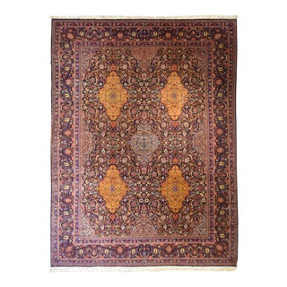 "Antique Persian Kashan Rug 10'4"" x 13'10"""