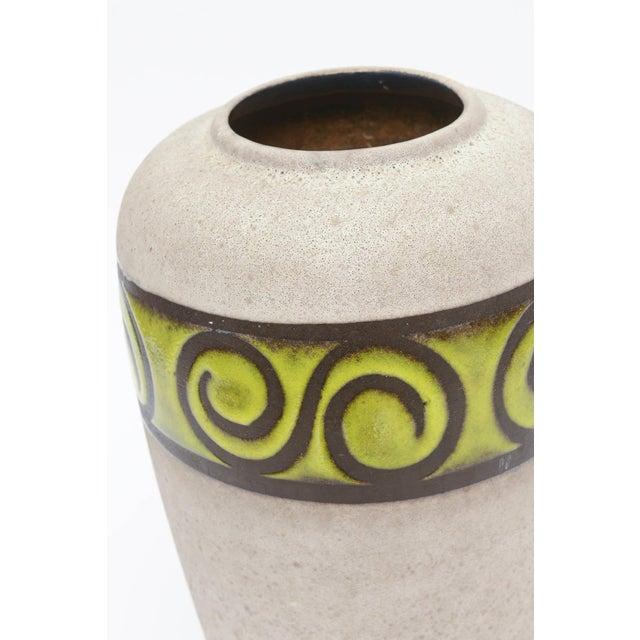 Sophisticated Western Germany Monumental Ceramic Vessel Or Vase Decaso