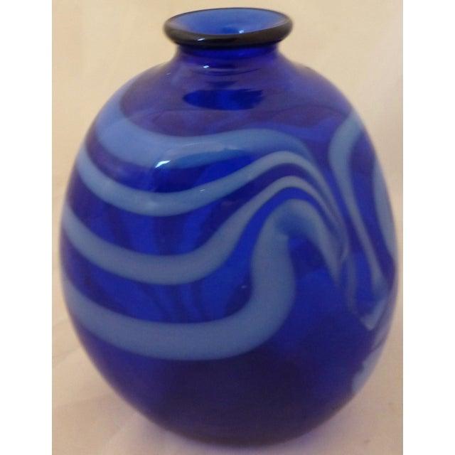 Mid Century Modern Studio Glass Vase - Image 6 of 8
