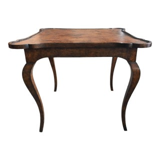 Game Table Minton Spidell Leather Too For Sale