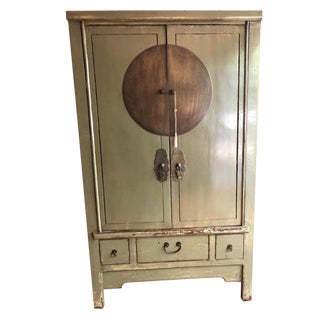 20th Century Chinese Green Armoire For Sale