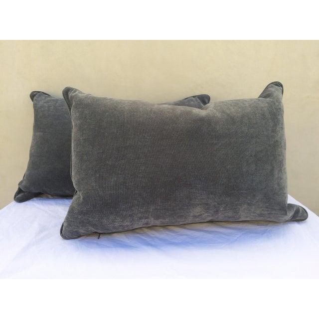 Velvet Cape Cod Blue Pillows - a Pair - Image 2 of 8