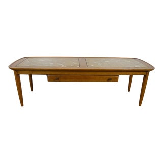 1960s Mid Century Modern Tomlinson Sophisticate Marble Top Coffee Table For Sale