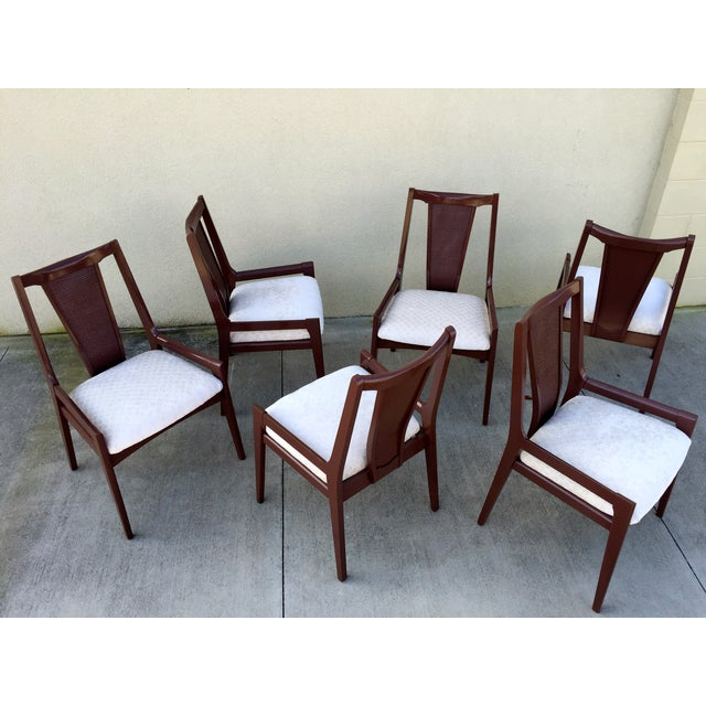 High Back Lacquered Dining Chairs - Set of 6 - Image 10 of 11