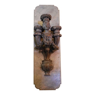 Mid 20th Century Figural Lighted Wall Sconce For Sale