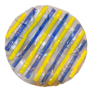Mid-Century Modern Art Glass Centerpiece / Bowl / Plate in the Style of Higgins For Sale
