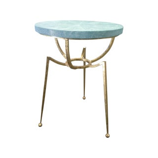 Shagreen & Goldleaf Stingray Acccent Table
