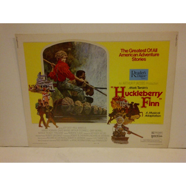 "Vintage Movie Poster ""Huckleberry Finn"" a Musical Adaptation - 1974 - Image 2 of 5"