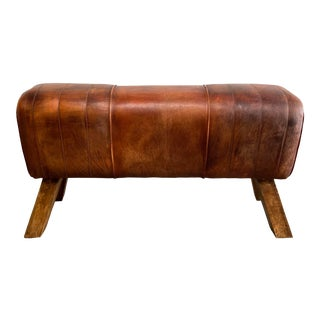 Pommel Horse With Vintage Style Leather For Sale