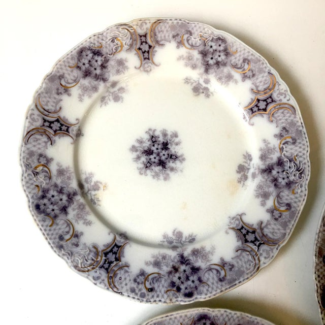 Wood & Son 1900s Wood and Son Keswick Purple Plate Collection - 4 Pieces For Sale - Image 4 of 8