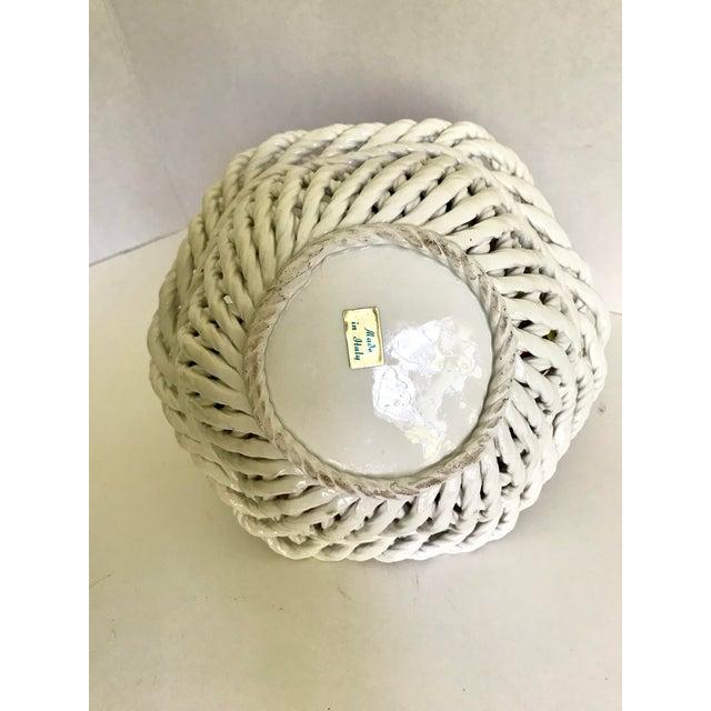 20th Century Italian Porcelain Fruit Basket For Sale - Image 4 of 5