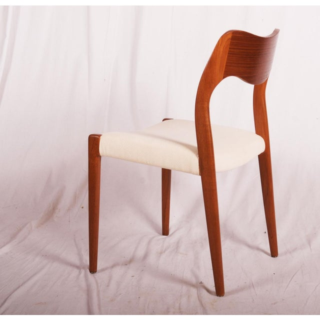 Brown Model 71 Teak Dining Chairs by Niels Otto Møller for JL Møllers, 1951 For Sale - Image 8 of 11