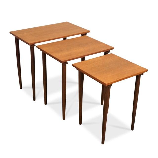 Original Danish Mid Century Modern Nesting Tables - Steen For Sale In New York - Image 6 of 7