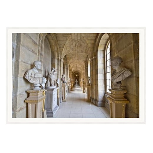 Stone Gray 'Castle Howard' Framed and Matted Print on Rag Paper by Michael Beck For Sale - Image 8 of 8
