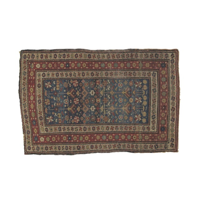 """Antique Russian Shirvan Rug - 3' X 4'6"""" - Image 1 of 6"""