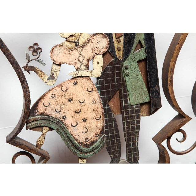 Unusual French Art Deco Figural Fire Screen For Sale - Image 9 of 10