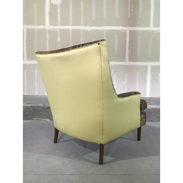 Wood Lawrence Peaboby for Richardson / Nemschoff 1960s Mid Century Modern Scandinavian High Back Lounge Chair Model 9203 and Ottoman For Sale - Image 7 of 13