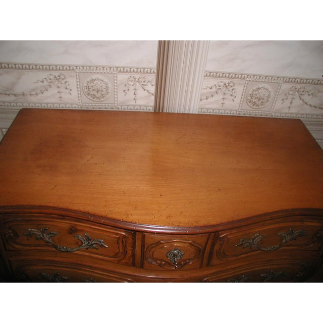 French 20th C. Five Drawer Fruitwood Chest - Image 5 of 9