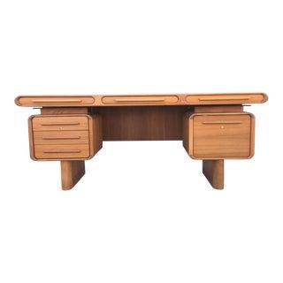 Danish Retro Executive Desk by Kibæk Møbelfabrik A/S For Sale