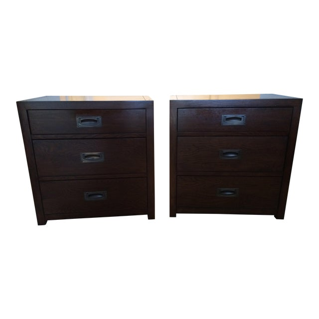 Restoration Hardware 3-Drawer Larkspur Nightstands - a Pair For Sale