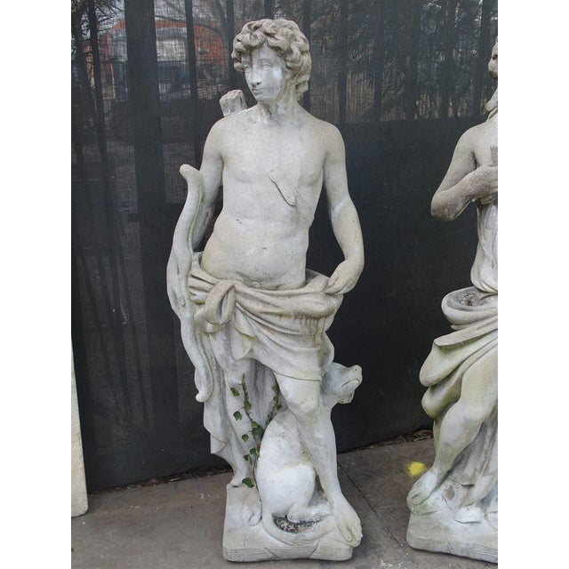 Pair of 20th Century French Statues Representing Apollo and Diana For Sale - Image 4 of 13