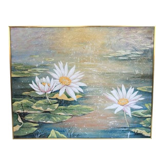Lee Reynolds Water Lilies Painting For Sale