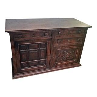 19th Century English Oak Cabinet For Sale
