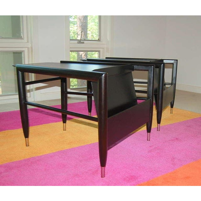 Americana John Keal for Brown Saltman Wedge Side Tables For Sale - Image 3 of 10