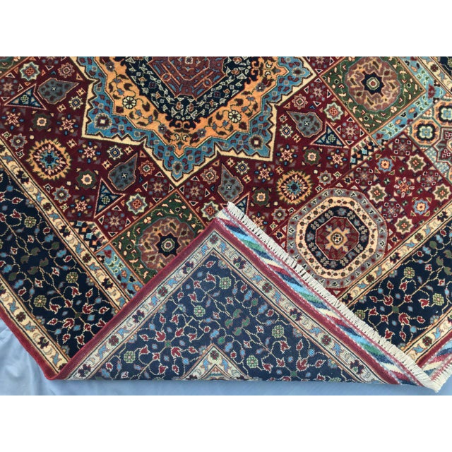Persian Handmade Traditional Rug - 4′11″ × 6′7″ For Sale - Image 4 of 5