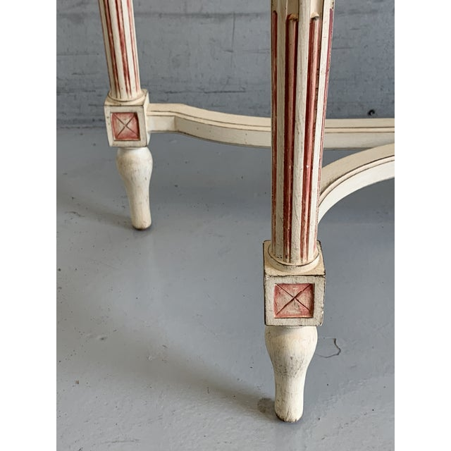 20th Century Hollywood Regency Marble Top Console Table For Sale - Image 6 of 11