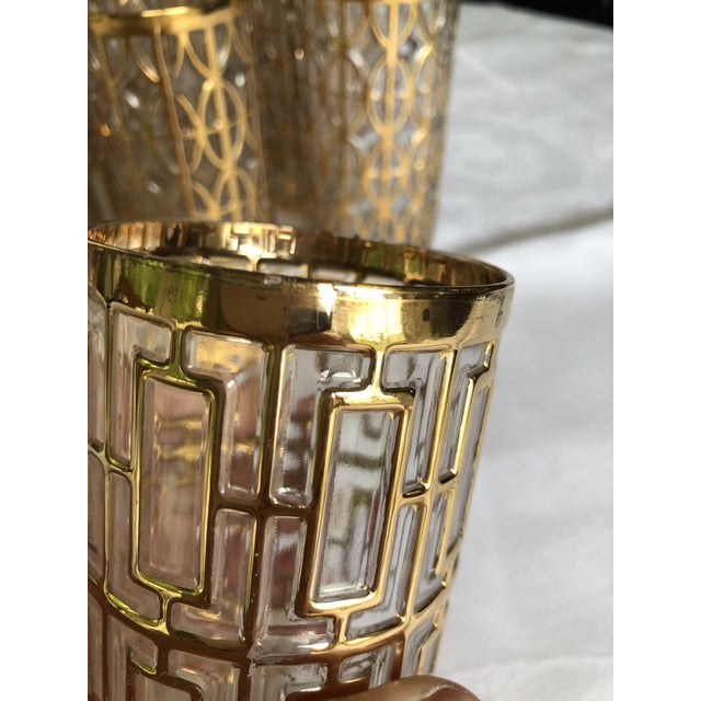 1960s Hollywood Regency 22k Gold Imperial Glass Tumblers - Set of 20 For Sale In Philadelphia - Image 6 of 8