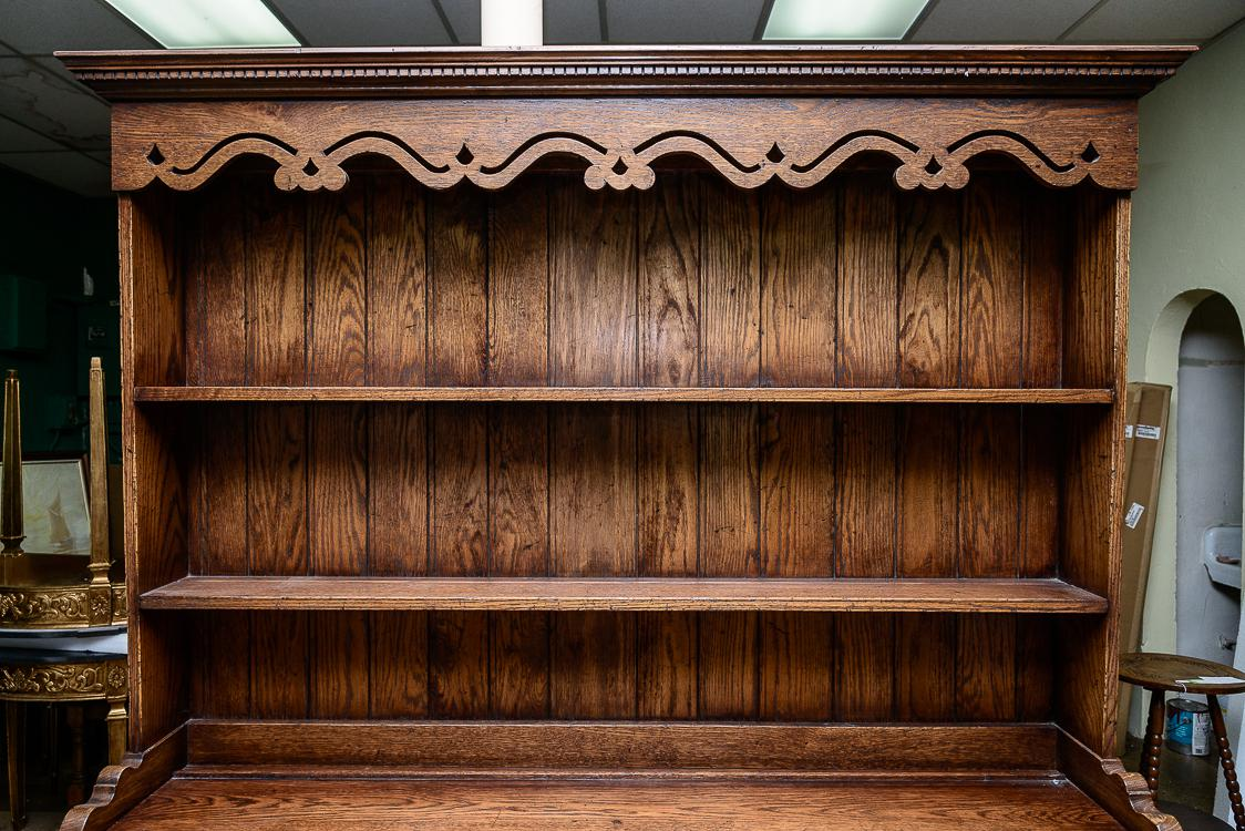 English Oak Dresser With Plate Rack - Image 2 of 9  sc 1 st  Decaso & Lovely English Oak Dresser With Plate Rack   DECASO