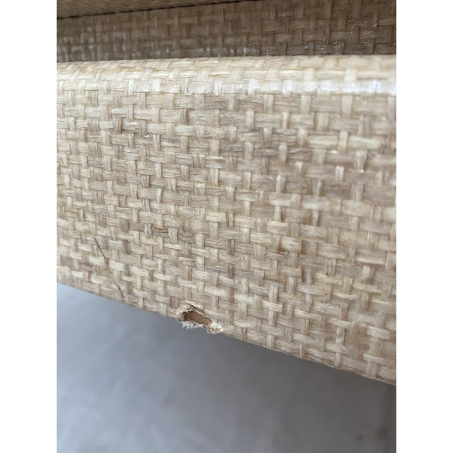 Grasscloth Wrapped Ming Style Coffee Table For Sale - Image 9 of 11