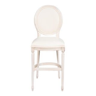 Louis XVI Round Back Counter Stool