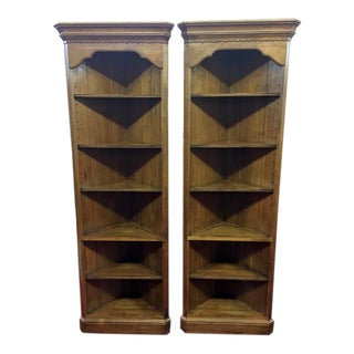 Ethan Allen Maple Corner Shelves - a Pair For Sale