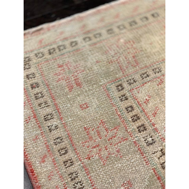 Red 1920s Antique Distressed Turkish Oushak Area Rug - 6′6″ × 9′4″ For Sale - Image 8 of 13